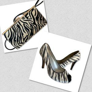 Zebra Print bundle: Purse and shoes